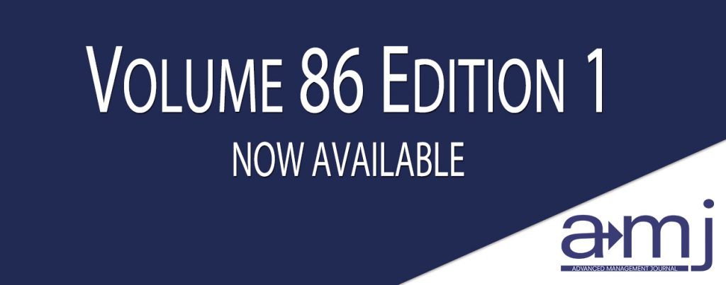 SAM AMJ Volume 86 Edition 1 Now Available Banner